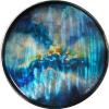 "Caelestis XVII Acrylic on Steel 24"" Round SOLD"