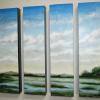 Verde Spring 1-4 Acrylic on Box 24x6 each box