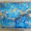 Caelestis LVIII 58 Reverse Painted Acrylic on Plexi w/Steel 25x21
