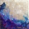 Caelestis XCIX 99 Acrylic on Panel w/Resin 6x6